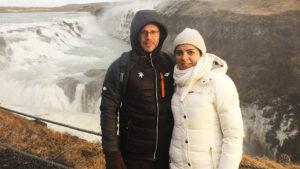 Szymon Łukasik z żoną - Islandia, 2016 rok