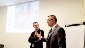 W czasie branżowej dyskusji na spotkaniu w Polskiej Radzie Centrów Handlowych - Szymon Łukasik i Bolesław Kołodziejczyk