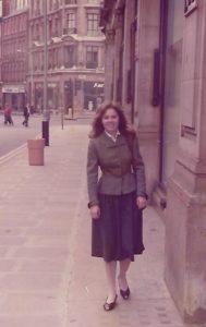 Studentka - Monika Dębska w Londynie w latach 80. XX wieku