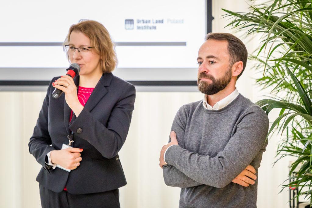 Dorota Wysokińska – Kuzdra, przewodnicząca ULI Poland i Michał Olszewski, wiceprezydent m. st. Warszawy