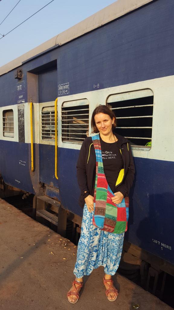Beata Wasyluk w drodze między Waranasi a Rishikesh