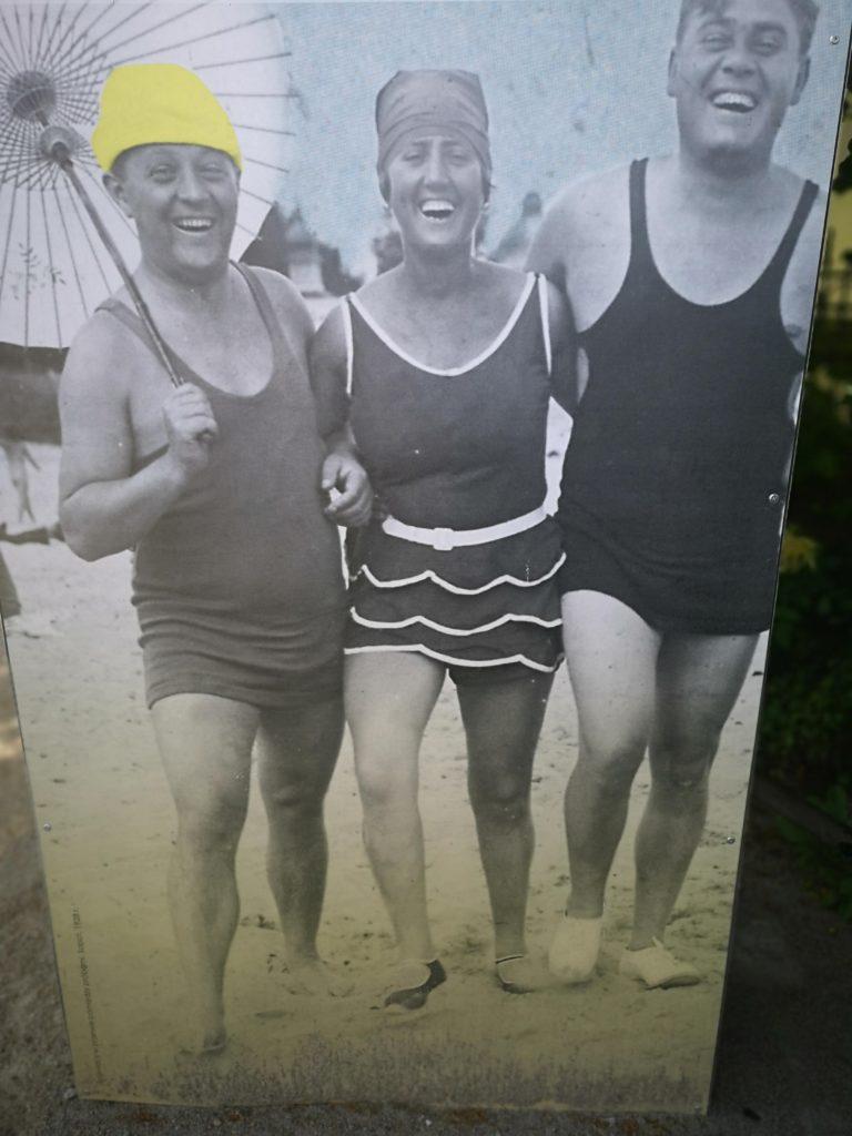Sopoccy plażowicze w 1939 roku